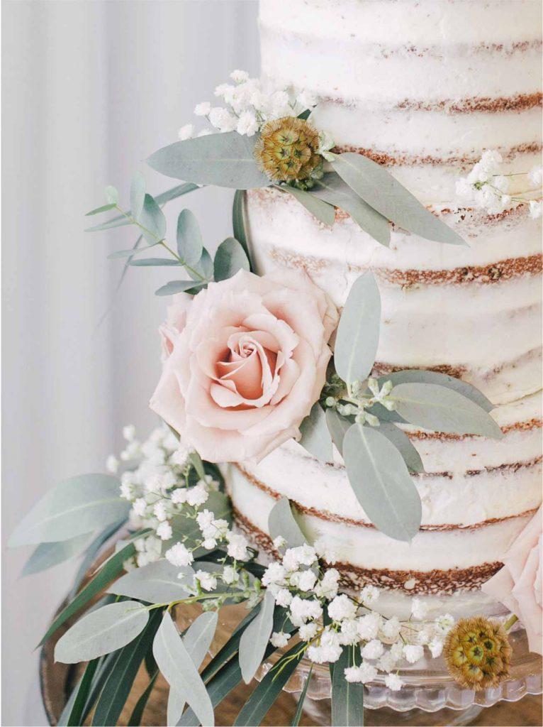 semi-naked cake naked cake