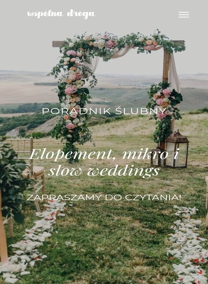 Elopement, mikro i slow wedding