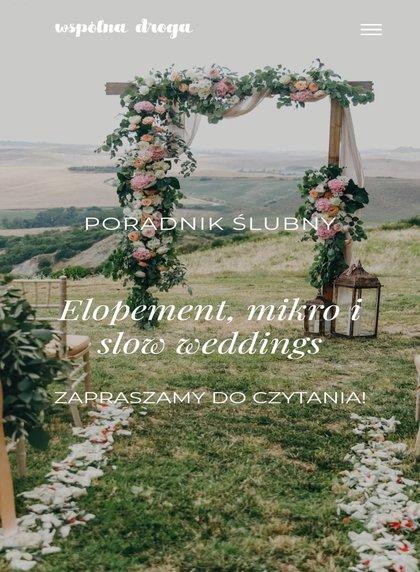Elopement, mikro i slow wedding